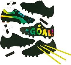 Baker Ross Soccer Boot Scratch Art Magnets (Pack of 10) for Children's Design Crafts