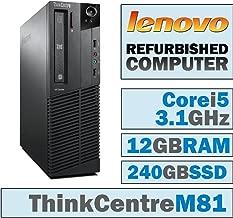 Lenovo ThinkCentre M81 SFF/Core i5-2400 Quad @ 3.1 GHz/12GB DDR3/NEW 240GB SSD/DVD-RW/WINDOWS 7 PRO 64 BIT