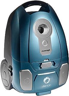 Concept Electrodom?sticos VP8250 - Aspirador con Bolsa Ultra silencioso turbocepillo, 700 W, Color Azul
