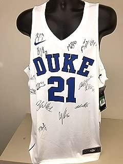 Duke Blue Devils Team Signed Jersey Zion Williamson Barrett Bas Loa Beckett - Beckett Authentication