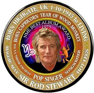 Sir Rod Stewart Pin, Astrology Capricorn Zodiac Wood Monkey,
