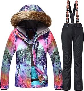 Women Snowboard Suit Waterproof Windproof Ski Jacket and Pant