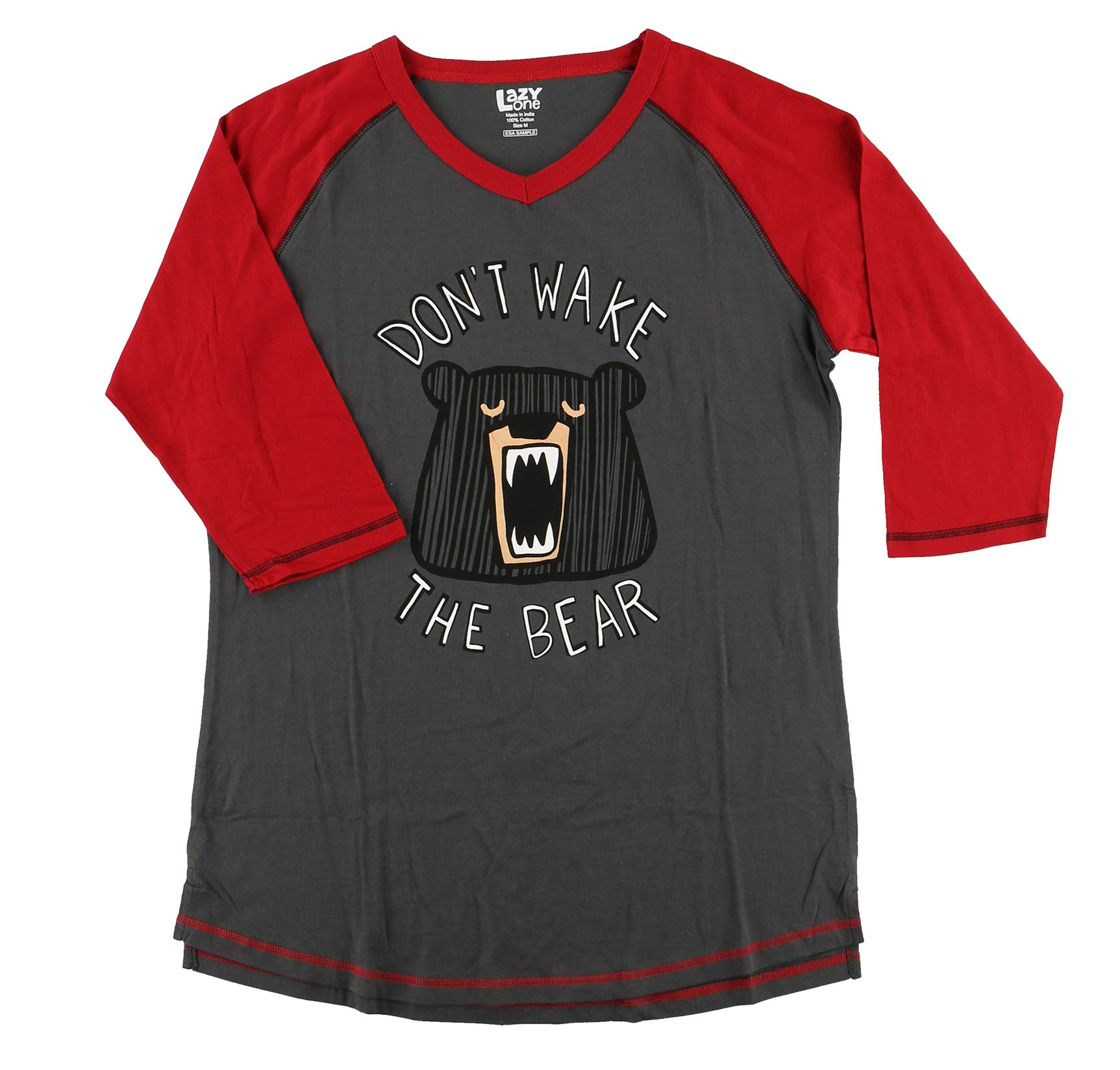 LazyOne Unisex Don/'t Wake the Bear PJ T Shirt Adult