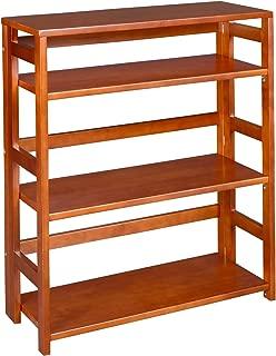 Regency Flip Flop 34-Inch High Folding Bookcase, Cherry