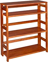 Regency Flip Flop 34-Inch High Folding Bookcase, Cherry