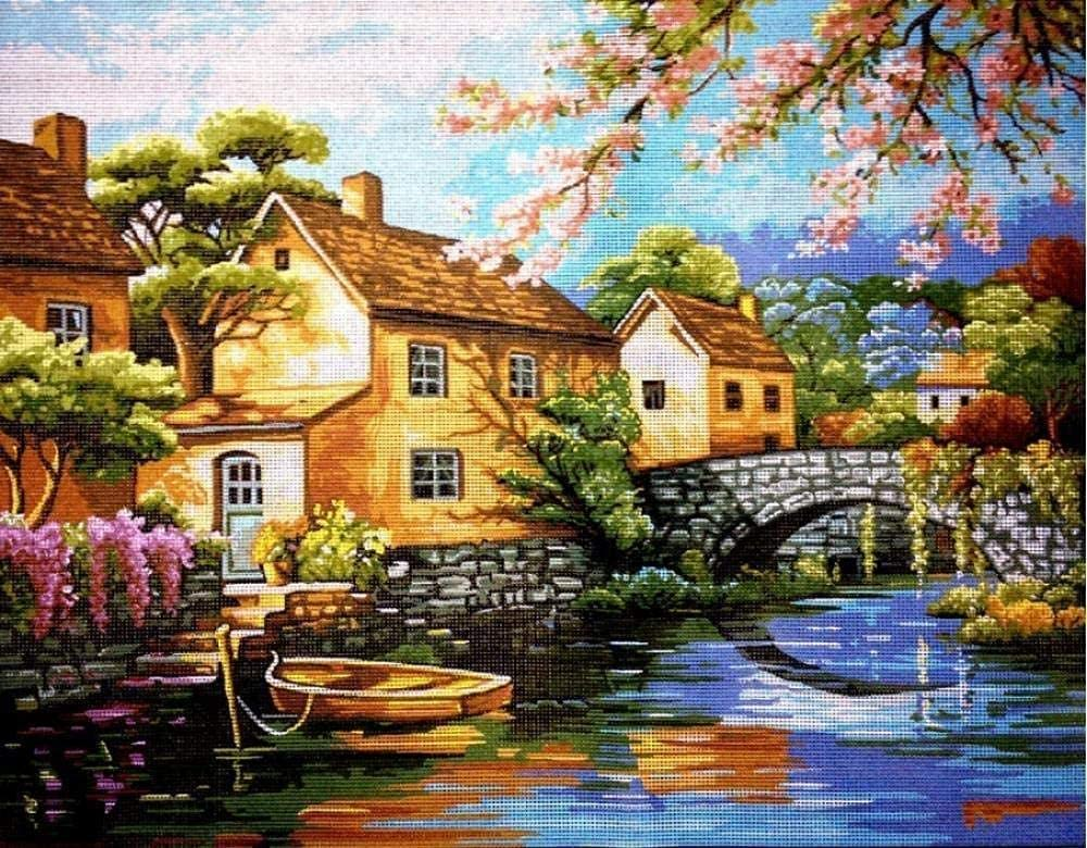 Stamped Cross Stitch Kits Tapestry Baiqiao Save money New product type Embroidery kit Villag