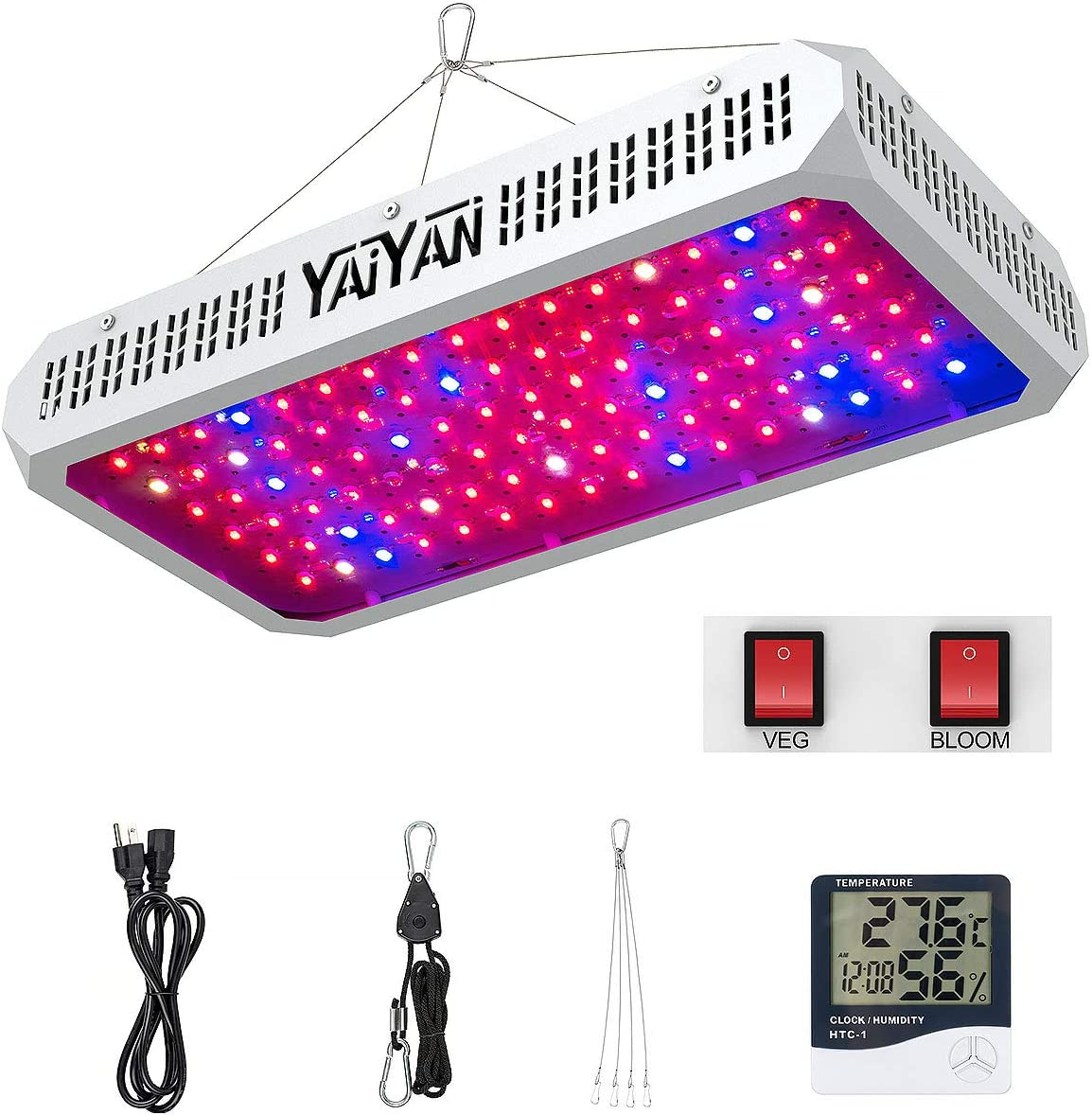 Led Grow Light YAIYAN 960W Max Luxury goods 80% OFF Plant and Lights Bl with Veg