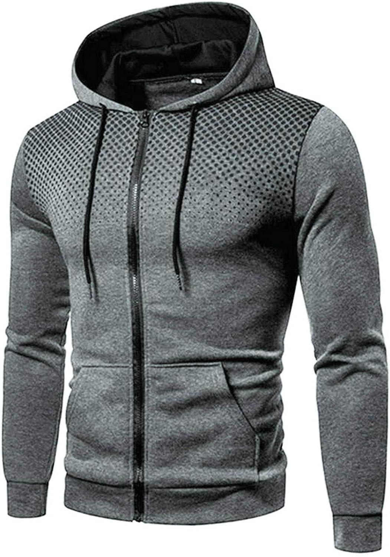 Men's Sweatshirts Full Zip Cardigan Sports Gym Sweatshirt Drawstring Fashion Mens Athletic Hoodies Gym Sports Pullover