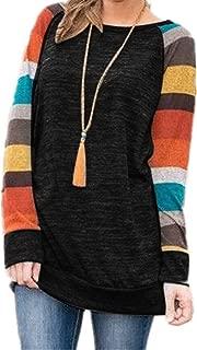 Women's Cotton Knitted Long Sleeve Lightweight Tunic Sweatshirt Tops