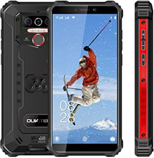 Rugged Cell Phone Unlocked OUKITEL WP5 Pro, 8000mAh Battery, 4GB+64GB ROM, Android 10 Rugged Smartphone, 5.5 Inch IP68 Wat...