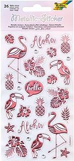 folia - Stickers métalliques - Idéal pour décorer des cartes de vœux, des travaux manuels et du scrapbooking., coloré, tai...