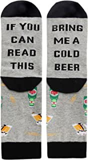 If You Can Read This Novelty Funny Saying Beer Socks, Fun Gag Gift for Men