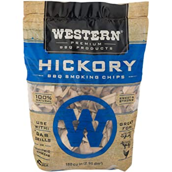 Western Premium BBQ Products Hickory BBQ Smoking Chips, 180 cu in