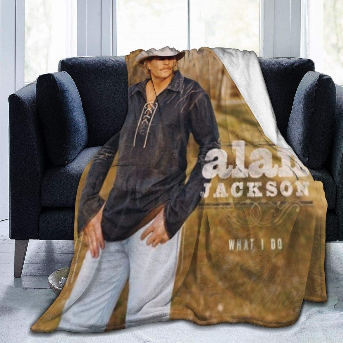 Ernest J Bates Alan Jackson Luxury セール特別価格 Soft Blan 別倉庫からの配送 Flannel Blanket Bed