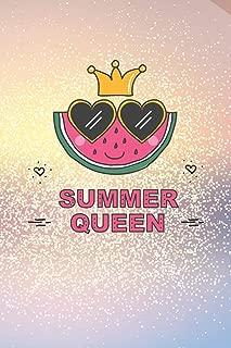 Summer Queen: Summer Beach Vacation, Cruise Diary, Lined Journal, Planner