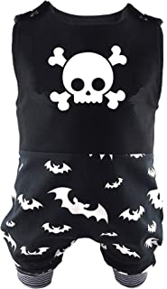Eve Couture Babykleidung Baby Strampler Totenkopf & Fledermaus Unisex Rock´n Roll Gothic schwarz