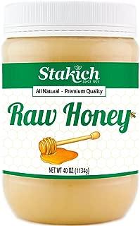 Stakich RAW HONEY - 100% Pure, Unprocessed, Unheated, KOSHER (40 Ounce)