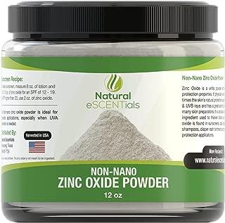 Natural Zinc Oxide Powder - Non Nano and Uncoated - Baby Safe, Cosmetic Grade Fine Powder - FREE: Recipe eBook