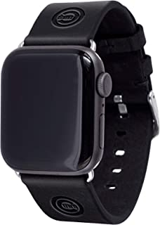Chicago Cubs Leather Band Compatible with Apple Watch(42mm/44mm-Long, Black)