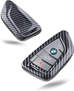 TOMALL Key fob Cover Carbon Fiber Case for X1 X3 X5 X6 F48 G01 F15 F16 and New 3 series New 5 series 7 series
