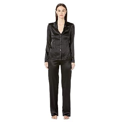La Perla Silk Reward Long Pajamas (Black) Women