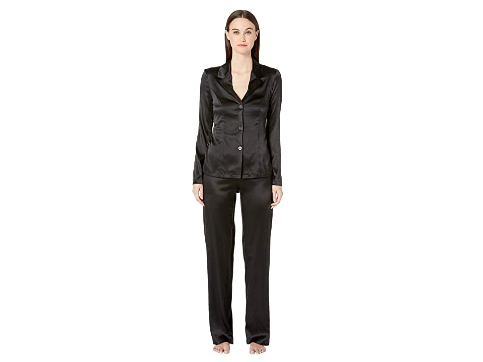 La Perla Silk Reward Long Pajamas (Black) Women