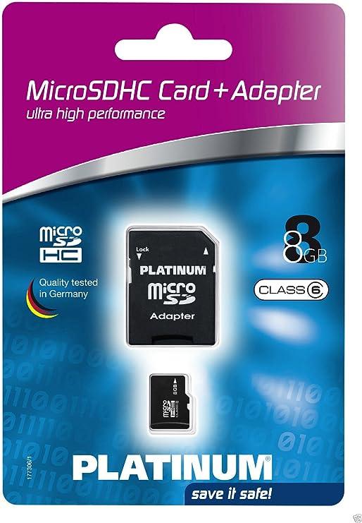 Platinum Micro Sdhc 8 Gb Class 6 Speicherkarte 177306 Computer Zubehör