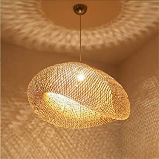 MMGIRLS Adjustable Lantern Chandelier Bamboo Chandelier Southeast Asian Style Personality Bamboo Art Ceiling Light Restaurant Home Pendant Shade - Diameter 60cm