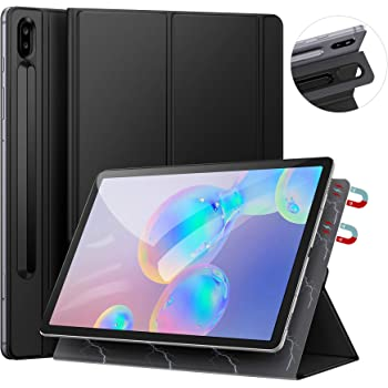 Ztotops Case for Samsung Galaxy Tab S6 2019, with S Pen Holder, Ultra Slim Lightweight Trifold Stand Strong Magnetic Back Cover, with Auto Sleep/Wake,for 10.5 Inch Samsung Tab S6 SM-T860/T865, Black