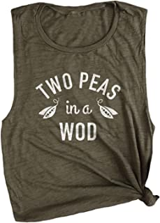 Two Peas in a WOD Workout Crossfit Top Muscle Tee