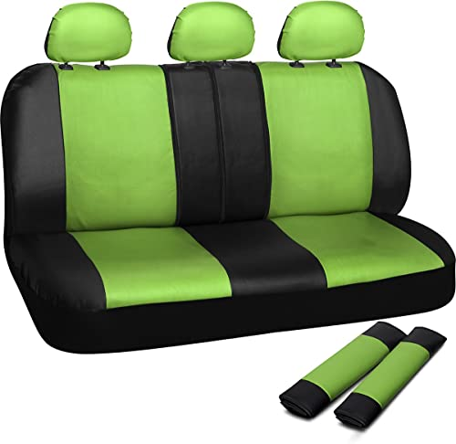 OxGord Leatherette Bench Seat Covers Universal Fit for Car, Truck, SUV, Van - Green