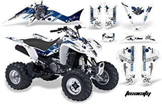 AMR Racing Graphics Kit for ATV Suzuki LTZ 400 2003-2008 TOXICITY BLUE WHITE