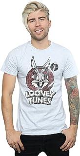 Looney Tunes Hombre Bugs Bunny Circle Logo Camiseta