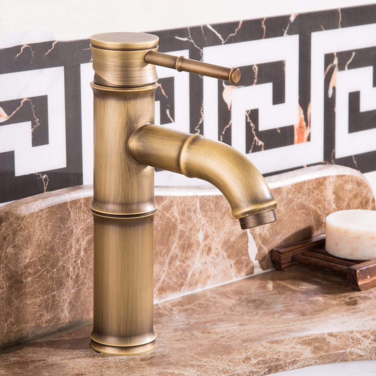 Hlluya Professional Sink Mixer Tap Kitchen Faucet Copper basin, redation, cold and hot, Single Hole Sink mixer 3