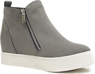 Taylor Hidden Fahsion Wedge Sneaker Shoes Side Zipper
