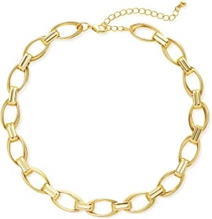 LANE WOODS 14k Gold Chain Women Necklace: Gold Plated Chunky Fashion Dainty Thick Jewelry for Men Boys Girls Teens