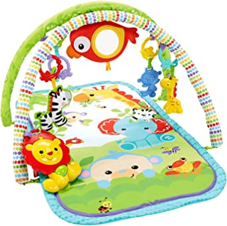 Fisher Price CHP85 Rainforest Friends 3-in-1 Musical Activity Gym, New-Born Baby Play Mat with Music and Sounds, Suitable ...