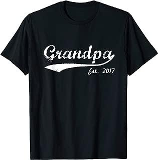 Mens New Grandpa T-Shirt - Grandpa Est. 2017 - Grandpa To Be T-Sh