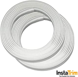 InstaTrim, Flexible, Self-Adhesive Caulk and Trim Solution - Cover Gaps Around Walls, Ceilings, Baseboards, Floors, Countertop, Backsplash, Toilest, and More