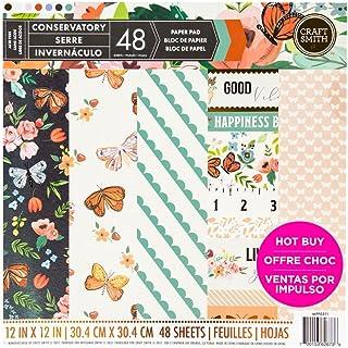 48 Blatt Hope /& Faith Craft Smith Design-Papierblock 30,4 x 30,4cm