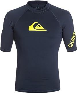 Quiksilver Men's All Time Short Sleeve Rashguard Surf Tee 50+ UPF
