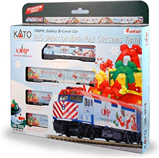Kato USA Model Train Products N 2016 Operation North Pole Christmas Train Locomotive & Cars