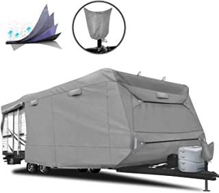 RVMasking 5-ply Top Travel Trailer RV Cover, Fits 28'7