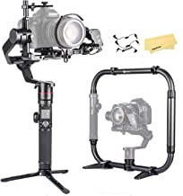 FeiyuTech Feiyu AK4000 Dual Handle Grip kit, 3-Axis Gimbal Stabilizer for Camcorder Mirrorless DSLR Digital Nikon Canon Sony Cameras, Max Payload 4.0kg (Come with a Free AFII Follow Focus servo)