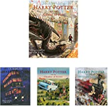 Harry Potter & Goblet Of Fire:Illustrated+Harry Potter & Prisoner Of Azkaban:Illustrated+Harry Potter & Philosopher'S Ston...