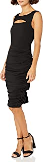 Star Vixen womens Sleeveless Peekaboo Rouched Bodycon Dress Casual Night Out Dress