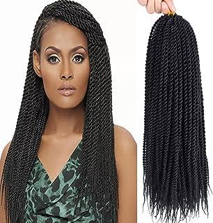 "Befunny 8 Packs 18"" Senegalese Twist Crochet Hair Small Crochet Braids Pre Looped.."