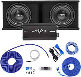 """$529 » Skar Audio Dual 12"""" Complete 2,400 Watt SDR Series Subwoofer Bass Package - Includes Loaded Enclosure with Amplifier"""