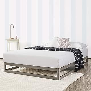 Mellow 9 Inch Metal Platform Bed Frame W/Heavy Duty Steel Slat Mattress Foundation (No Box Spring needed) Grey