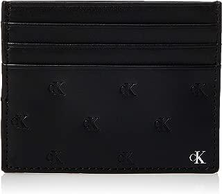 Calvin Klein Monogram Emboss Cardholder, Black, 10 cm K50K505003